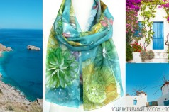 The Most Versatile Packing Item - A Scarf (Hand Painted Silk Scarf by Teresa Mare)