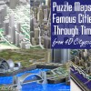 4D Cityscape Time Puzzles - Maps of Cities Through Time