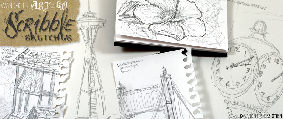 Art on the Go: Create Scribble Sketches to Capture Your Trip