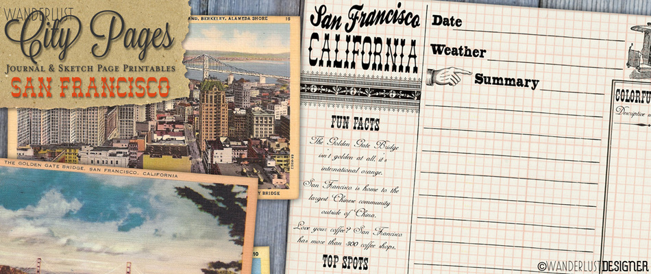 City Pages: San Francisco Journal and Sketch Pages from Wanderlust Designer