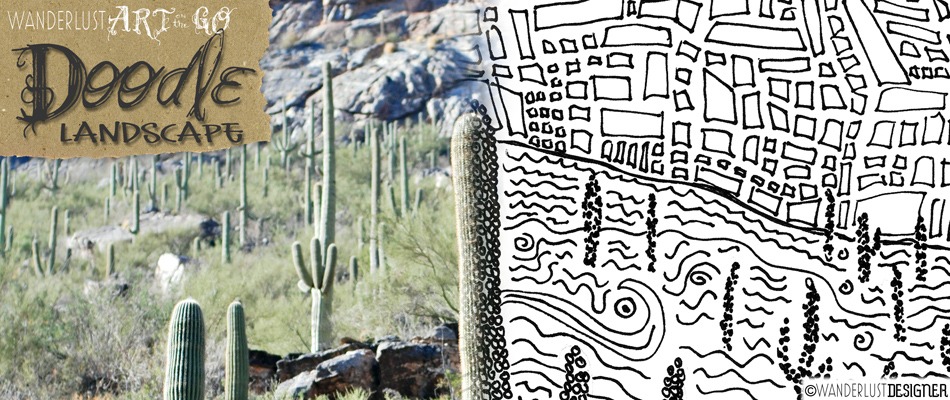 Art on the Go: Create a Landscape Doodle from Your Trip by Wanderlust Designer