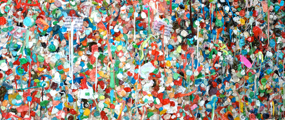 Seattle's Gum Wall - Abstract Art or Just Gross? by Wanderlust Designer