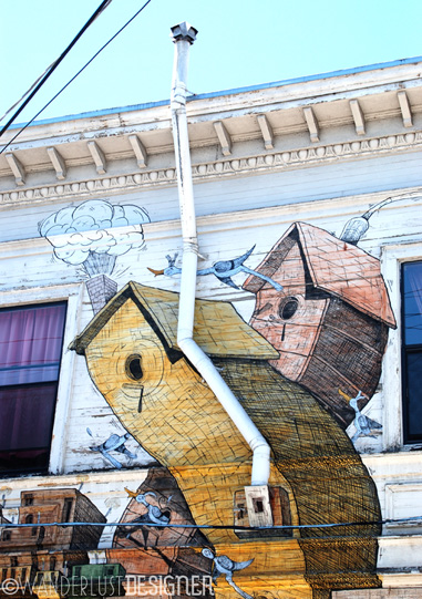 Building with Street Art, Mission District, San Francisco (photo by Wanderlust Designer)