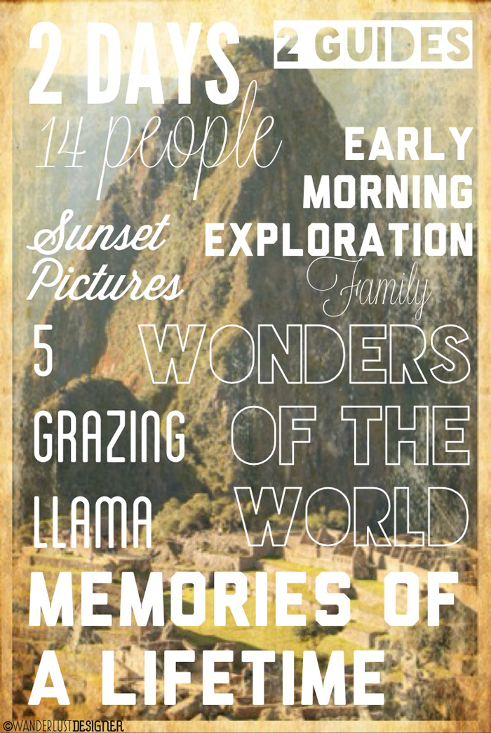 Infographic from My Machu Picchu Experience by Wanderlust Designer
