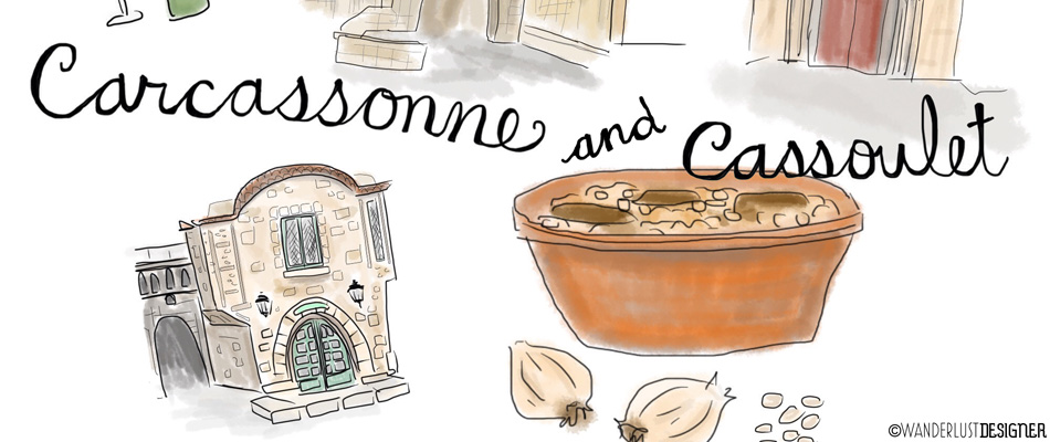 Cassoulet in Carcassonne: Close Up of Sketch by Wanderlust Designer
