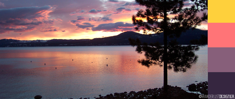 The Colors of a Sunset at Lake Tahoe by Wanderlust Designer