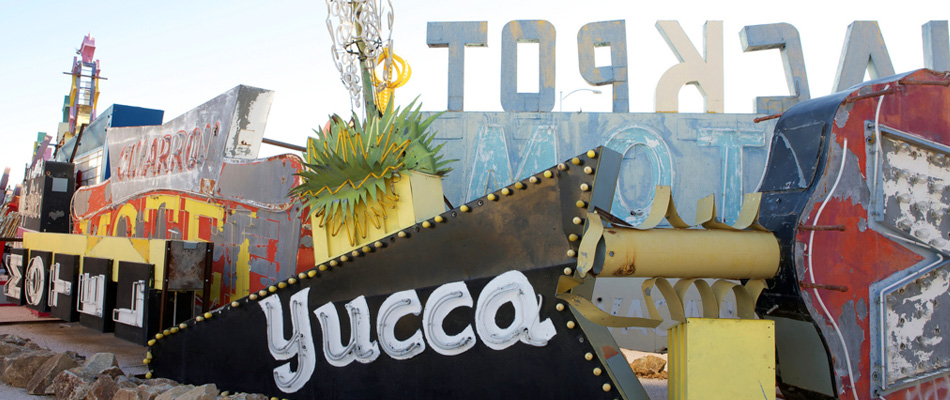 Vintage Neon Signs at the Neon Museum in Las Vegas, Nevada (photo credit: The Neon Museum)