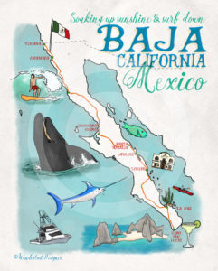 Sun and Surf in Baja California by Wanderlust Designer