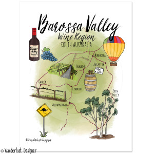 Barossa Valley Wine Region by Wanderlust Designer