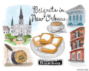 Beignets in New Orleans by Wanderlust Designer