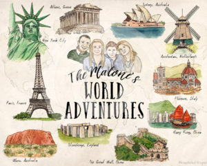 A Family's Illustrated Bucket List by Wanderlust Designer