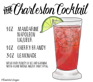 Charleston Cocktail Recipe by Wanderlust Designer