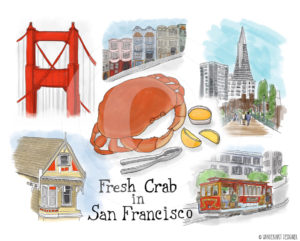 Fresh Crab in San Francisco by Wanderlust Designer