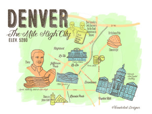 Downtown Denver Map