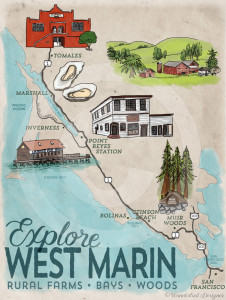 Explore West Marin Map by Wanderlust Designer