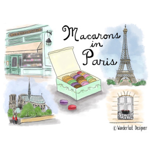 Macarons in Paris by Wanderlust Designer