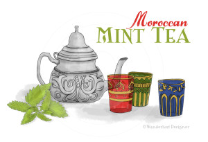 Moroccan Mint Tea by Wanderlust Designer