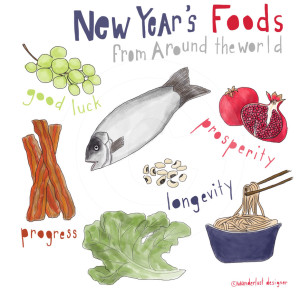New Years Foods by Wanderlust Designer