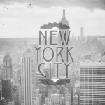 New York City Black and White Empire State by Wanderlust Designer