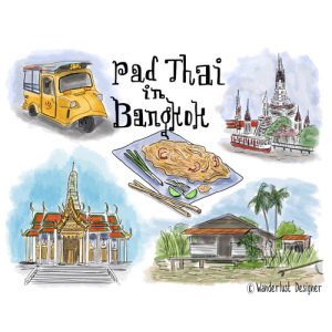 Pad Thai in Bangkok by Wanderlust Designer