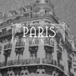 Paris Black and White Balconies by Wanderlust Designer