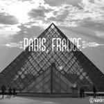 Paris Black and White Louvre by Wanderlust Designer