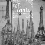 Paris Black and White Souvenirs by Wanderlust Designer