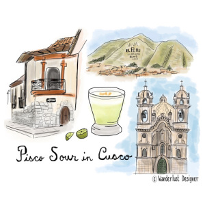 Picso Sour in Cusco by Wanderlust Designer