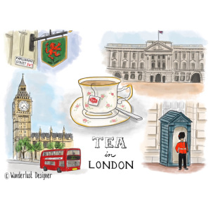 Tea in London by Wanderlust Designer