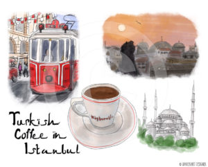 Turkish Coffee in Istanbul by Wanderlust Designer