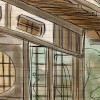 Japanese Tea House Sketch, Central Park, San Mateo (by Wanderlust Designer)