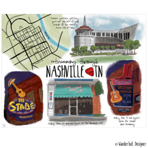 Strumming through Nashville, TN (by Wanderlust Designer)