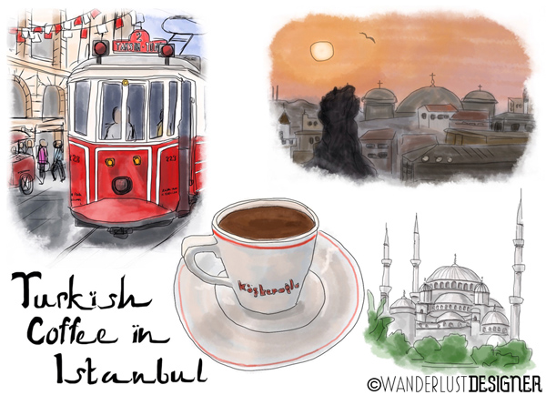 Turkish Coffee in Istanbul (Prints and Cards by Wanderlust Designer)