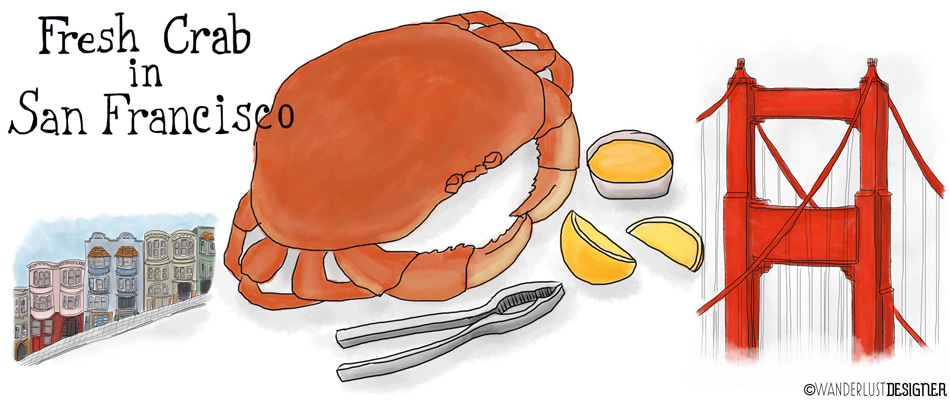Fresh Dungeness Crab in San Francisco by Wanderlust Designer