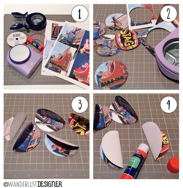 DIY Souvenir Photo Ornament: Steps 1, 2, 3, and 4 (by Wanderlust Designer)
