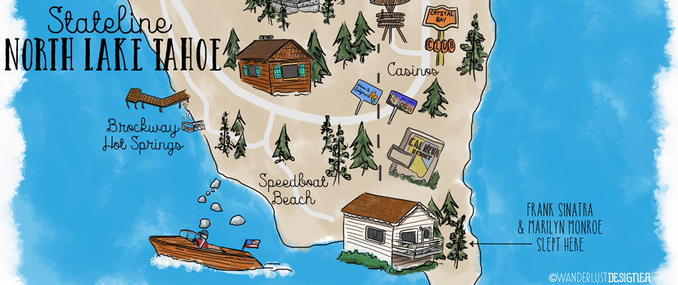 Neighborhood to Wander: Stateline North Lake Tahoe by Wanderlust Designer