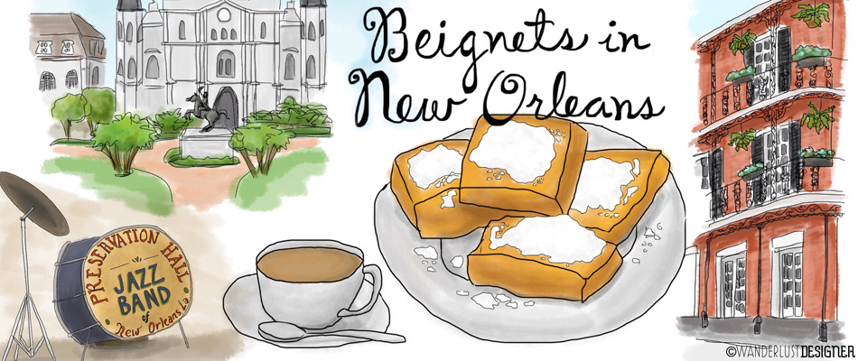 Eat Drink Travel - Beignets in New Orleans by Wanderlust Designer
