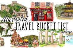 Illustrated Travel Bucket List volume 2 by Wanderlust Designer