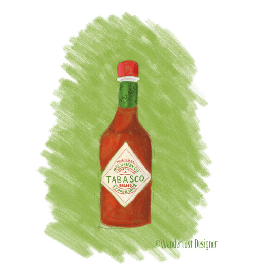 Tabasco Hot Sauce from Louisiana by Wanderlust Designer