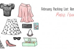 February Packing List: Romantic Getaway - Paris, France by Wanderlust Designer
