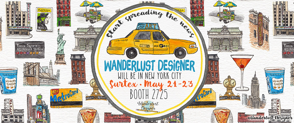 Wanderlust Designer is Heading to Surtex 2017, New York City
