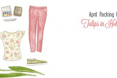 April Packing List: Tulips in Holland by Wanderlust Designer