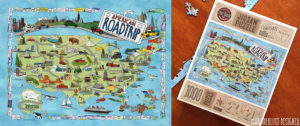 American Road Trip Puzzle for True South Puzzle (Illustrated by Wanderlust Designer)