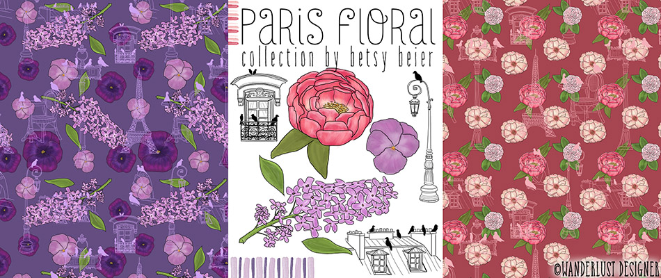 Paris Floral Collection by Wanderlust Designer