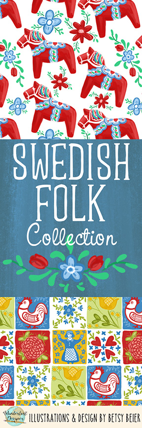 Swedish Folk Collection by Wanderlust Designer