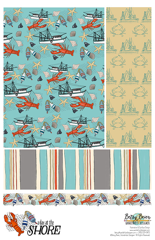 A Day at the Shore Collection by Betsy Beier