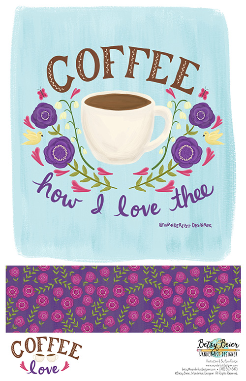 Coffee Love Collection by Betsy Beier