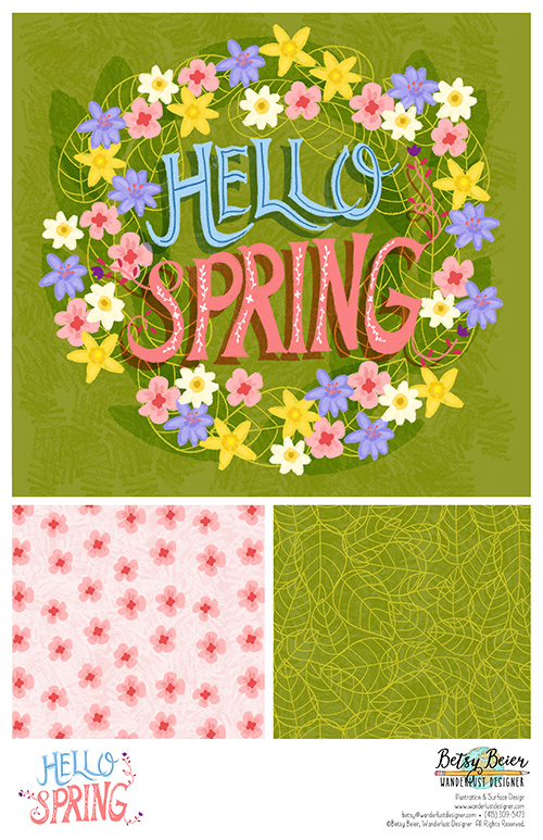 Hello Spring Floral Collection by Betsy Beier