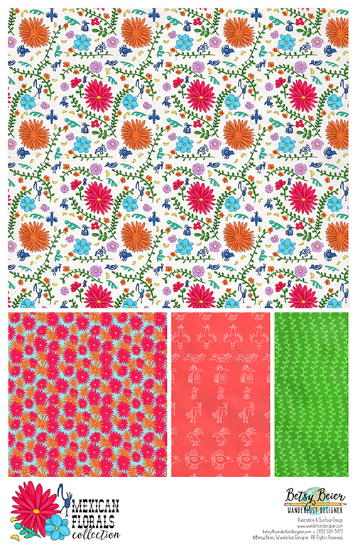 Mexican Florals Collection by Betsy Beier
