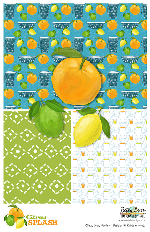 Citrus Splash Collection by Betsy Beier
